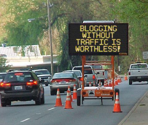 Blogging Construction Sign